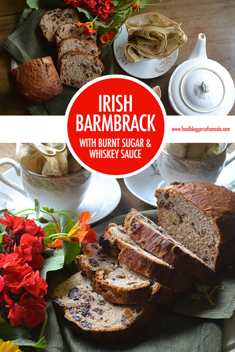 Irish Barmbrack with Burnt Sugar and Whiskey Sauce | Food Bloggers of Canada