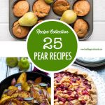 Collage of pear recipes
