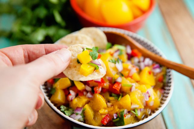 Peach Salsa Recipe   Food Bloggers of Canada