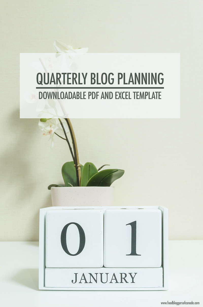 Quarterly Blog Planning With Printable Template | Food Bloggers of Canada