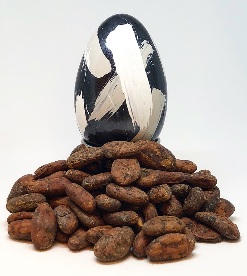chocolate egg with nuts