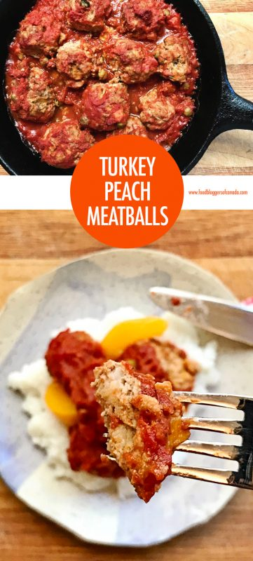 Easy Turkey Peach Meatballs | Food Bloggers of Canada