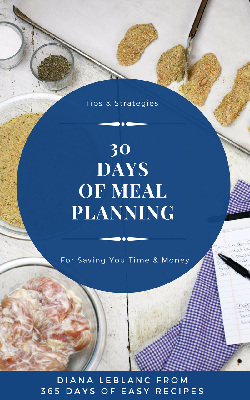 30 Days of Meal Planning | Diana Leblanc