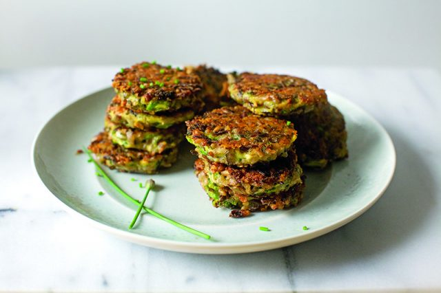 Broccoli, Cheddar and Wild Rice Fritters