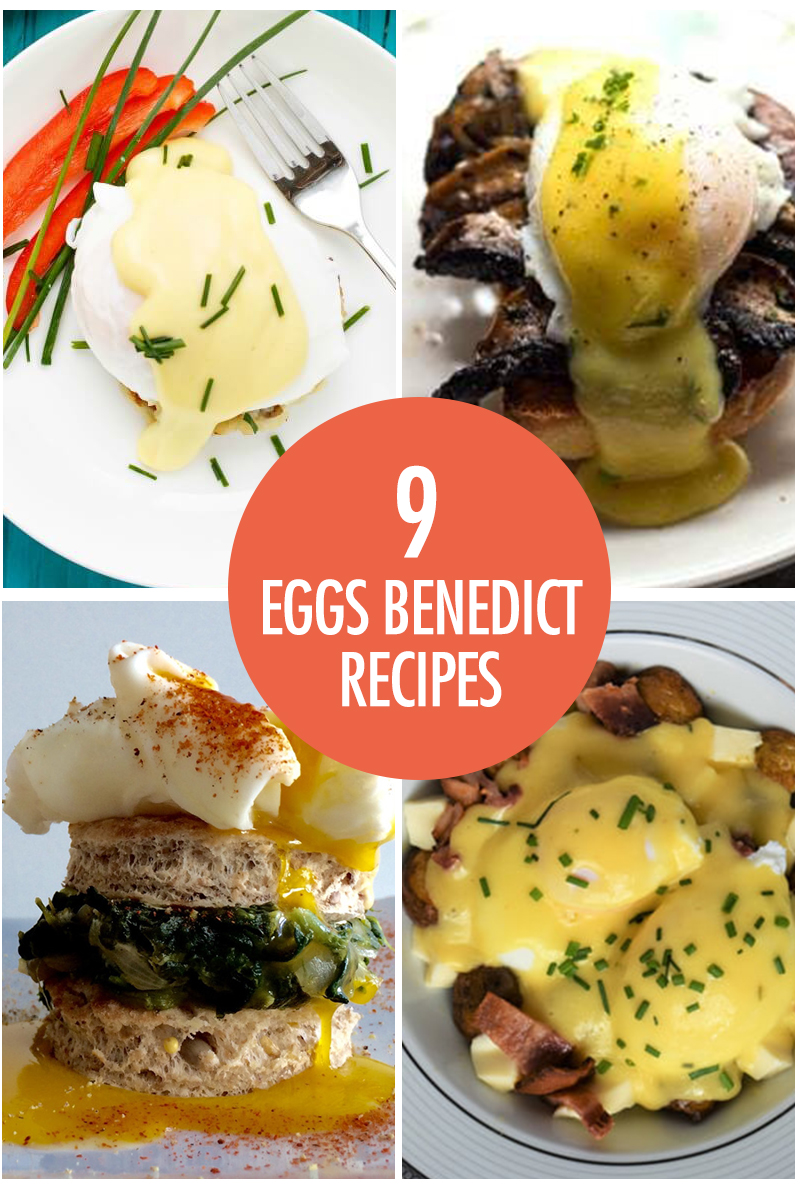 collage of eggs benedict recipes
