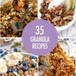 Collage of granola recipes