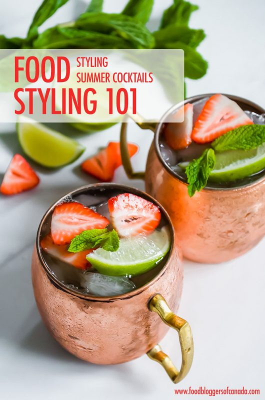 Moscow Mule Cocktails from Styling Summer Cocktails | Food Bloggers of Canada
