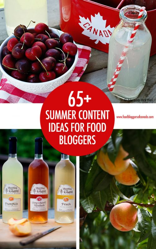 Over 65 Summer Content Ideas for Food Bloggers