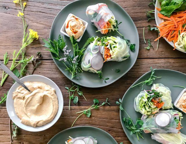 Zucchini Noodle Salad Rolls