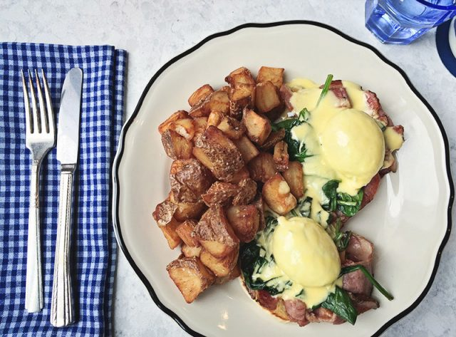 Eggs Benny and Hashbrowns and Merchant Cafe