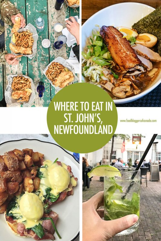 Where to Eat in St. John's, Newfoundland | Food Bloggers of Canada