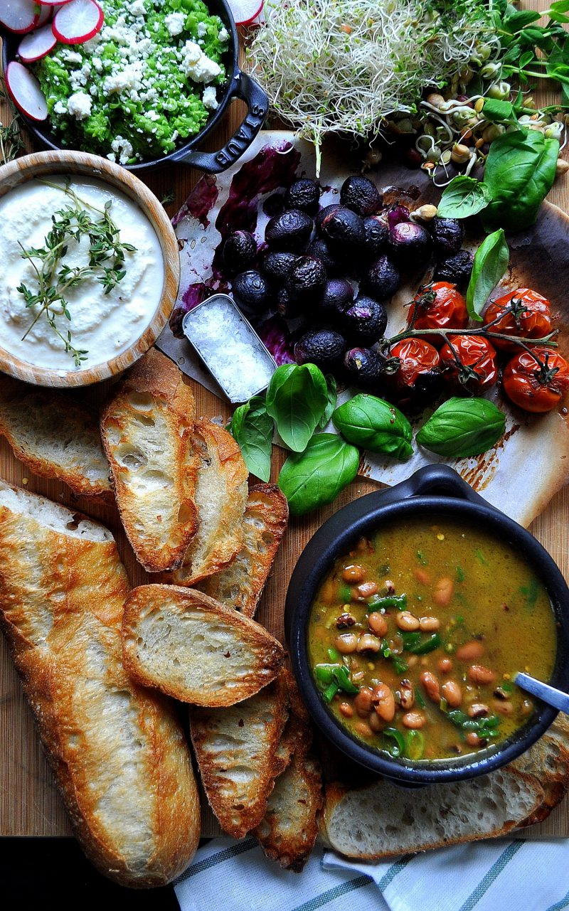 Coconut Soup with Crostini Bar