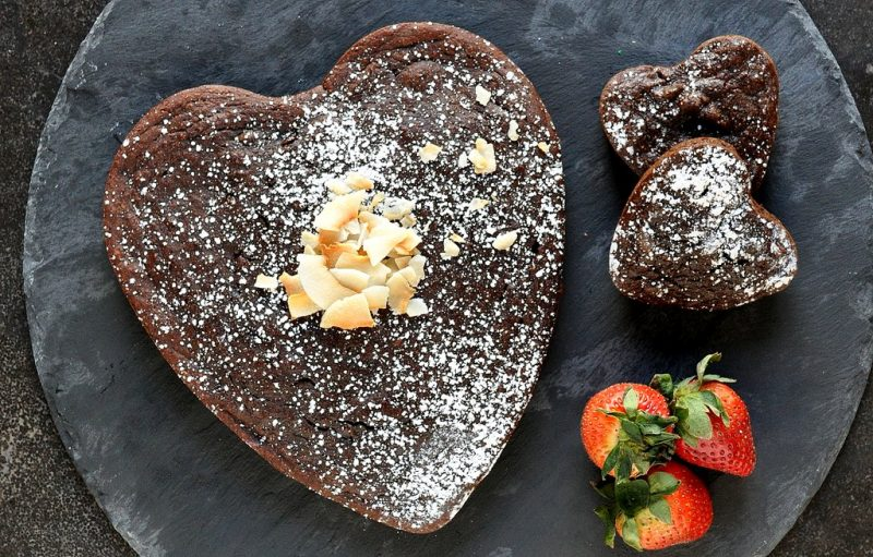 Heart Shaped Chocolate Cauliflower Cake
