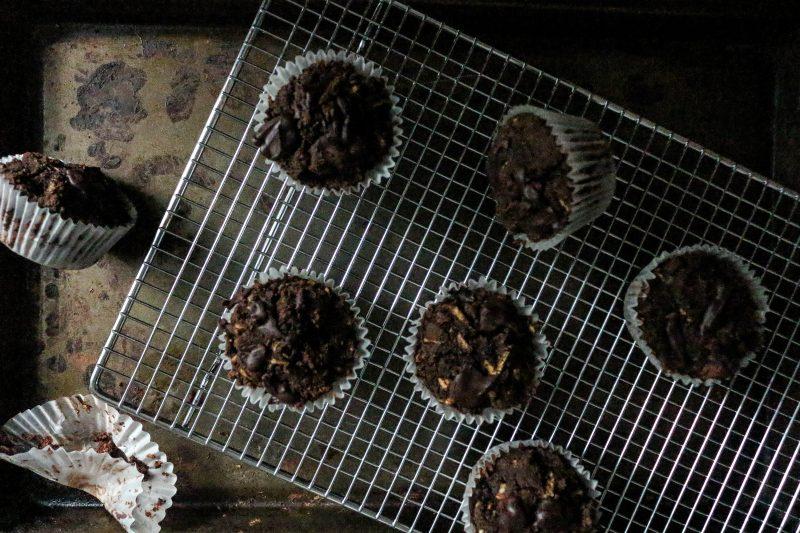 Chocolate Maca Zucchini Muffins