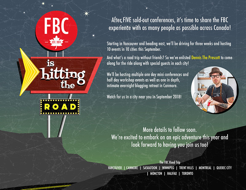 FBC 2018 Great Canadian Road Trip Teaser | Food Bloggers of Canada