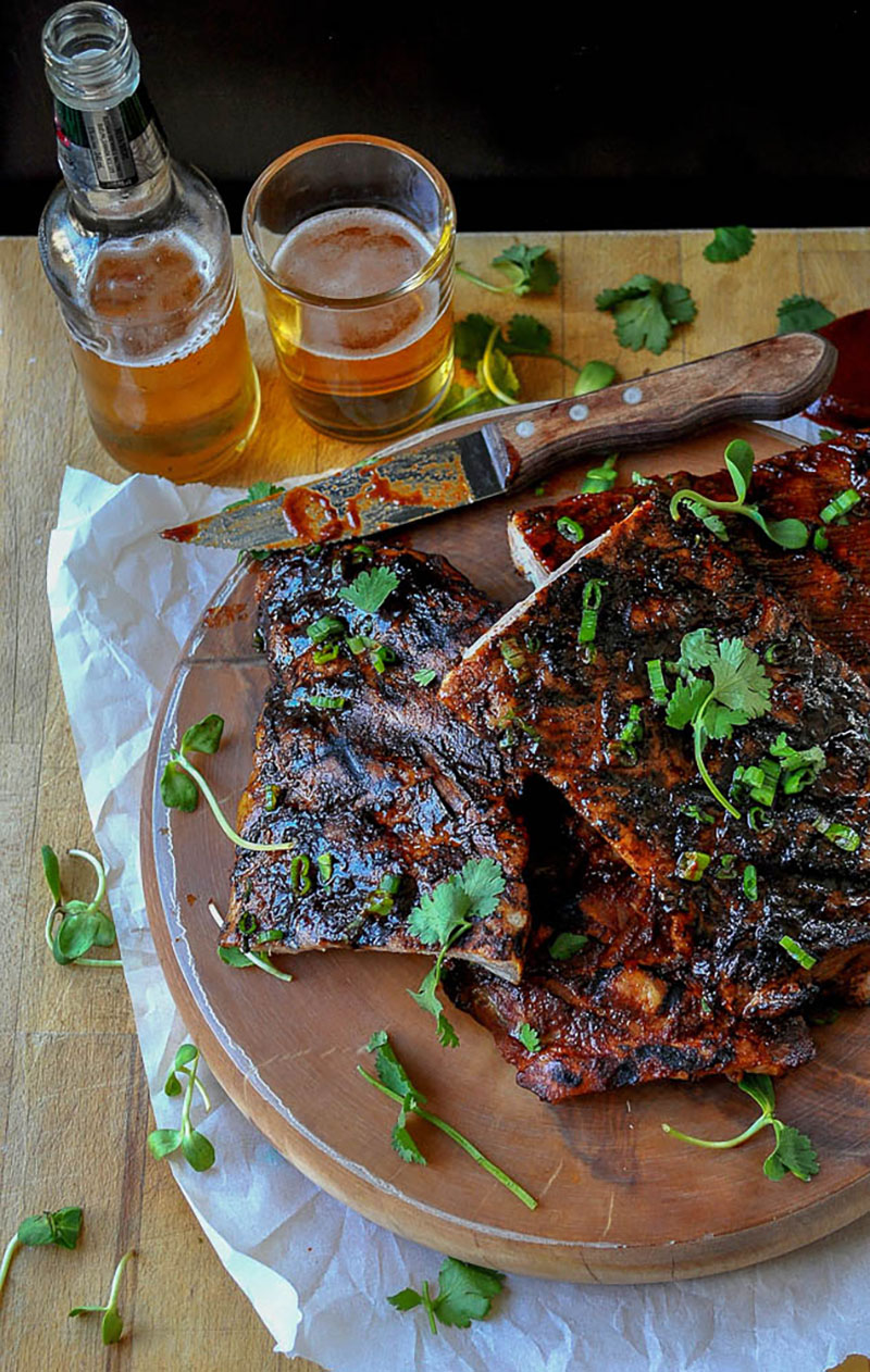 Food Styling Meat Sticky Ribs