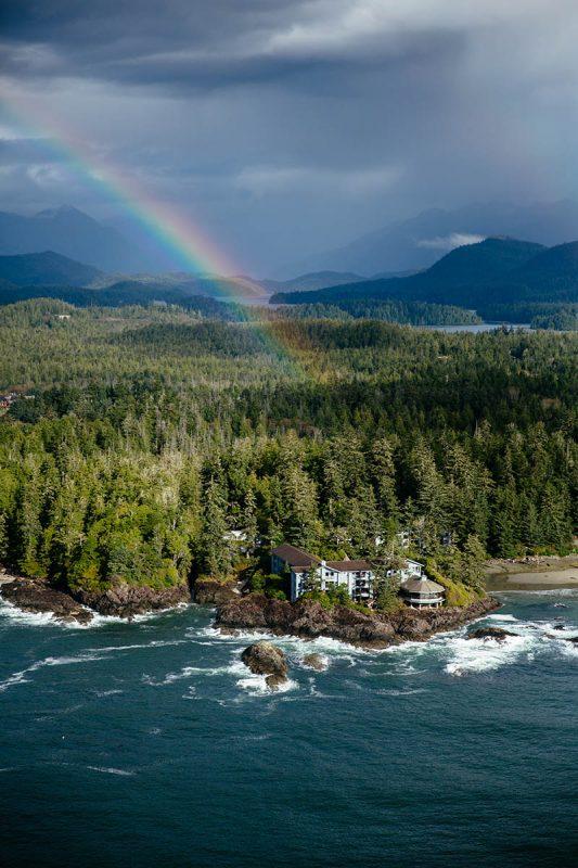 Rainbow over Wickaninnish Inn