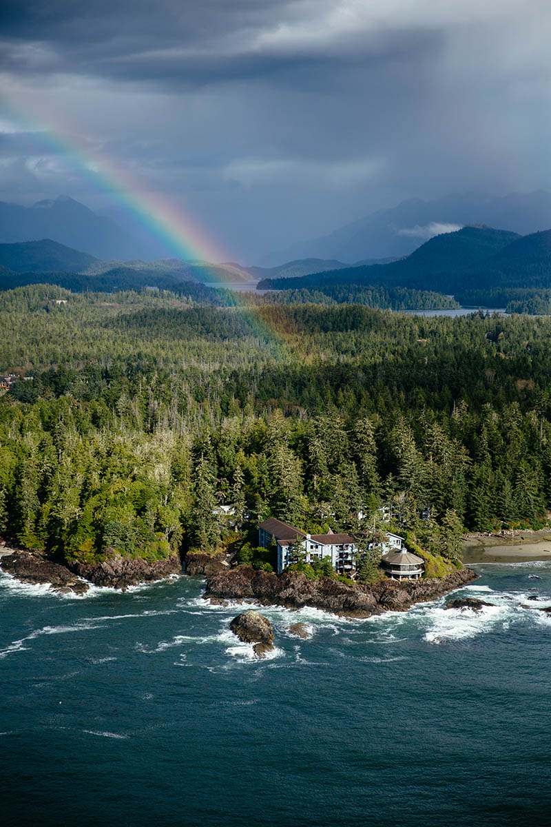 Rainbow over Wickaninnish Inn