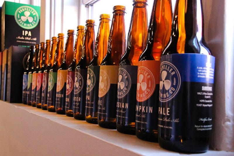 Propeller Lineup of Beers