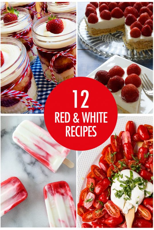 Red and White Foods For Canada Day