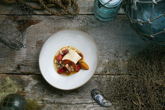 The Point Restaurant Sturgeon Dish by Chef Makito Inmate