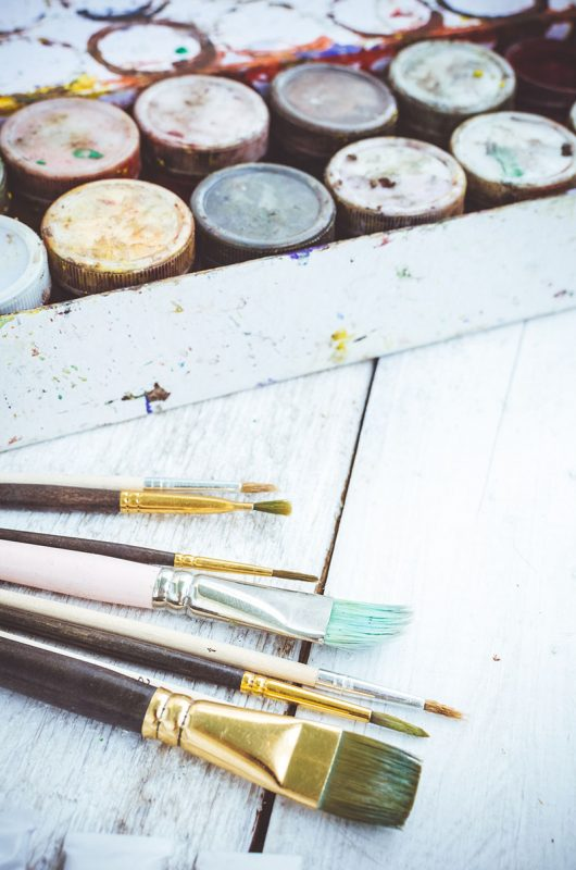 Paintbrushes and Paint