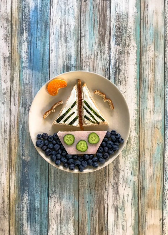 Sailboat Shaped Kid's Sandwich