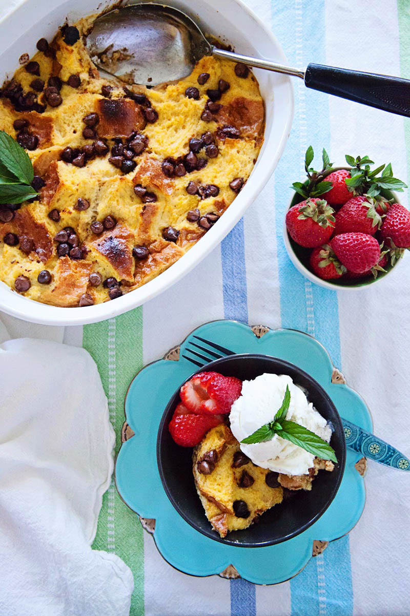 Chocolate Chip Bread Pudding | Food Bloggers of Canada