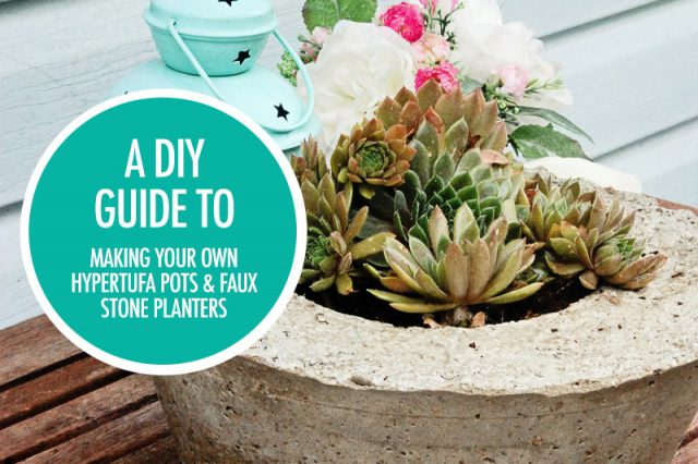 Make Your Own Hypertufa and Faux Stone Planters | Food Bloggers of Canada