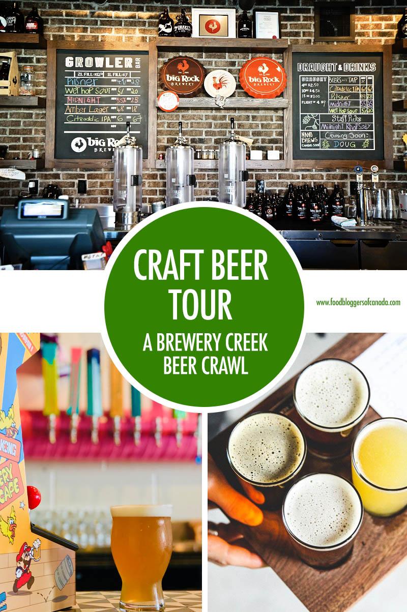 Craft Beer Crawl Brewery Creek   Food Bloggers of Canada