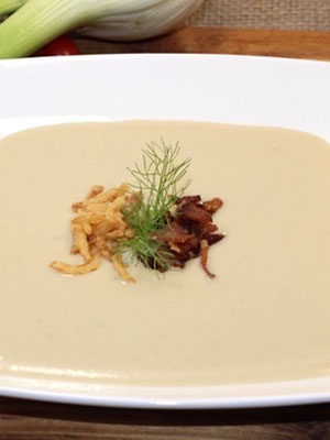 Cream of Fennel and Gruyere Soup With Sherry