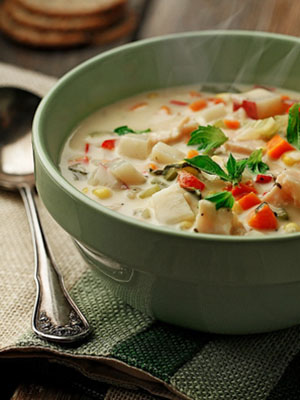 Lightened Up Chicken and Corn Chowder