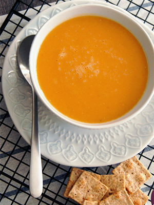 Instant Pot Sweet Potato Coconut Soup | Food Bloggers of Canada