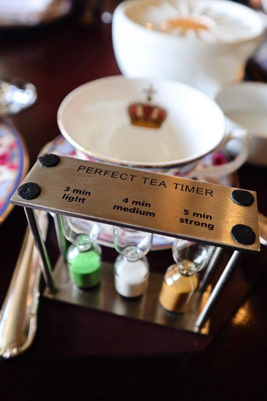 Tea timer at the Empress
