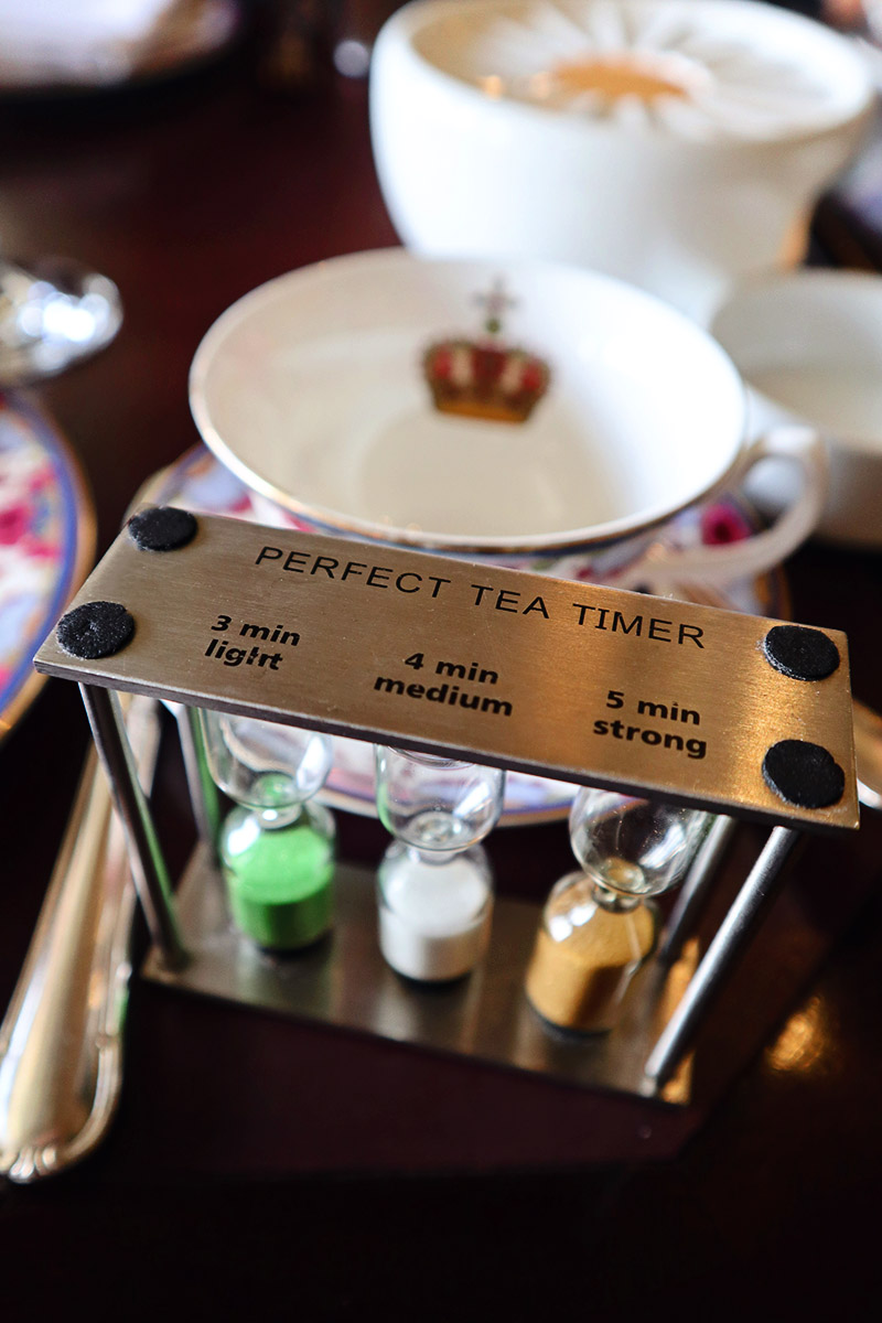 Tea timer at the Empress