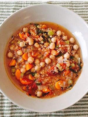 Chickpea Quinoa Soup