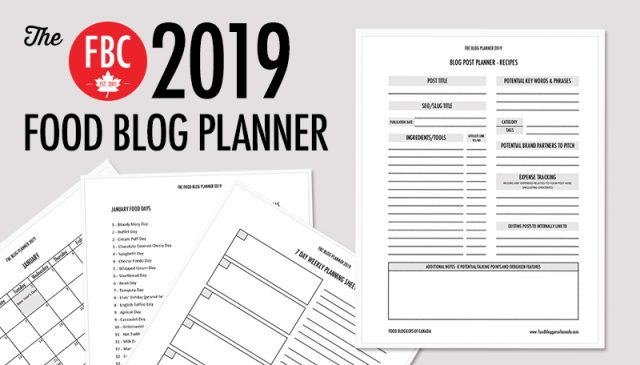 FBC Food Blog Planner