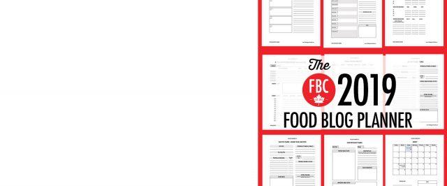 2019 Food Blog Planner