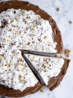 No Bake Nutella Tart with Amaretti Cookie Crust