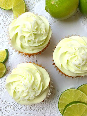 Coconut Cupcakes with Lime Buttercream Icing | Shifting Roots