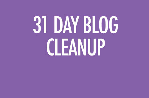 31 Day Blog Cleanup Challenge