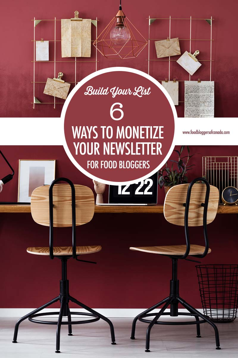 6 Ways to Monetize Your Email Newsletter | Food Bloggers of Canada