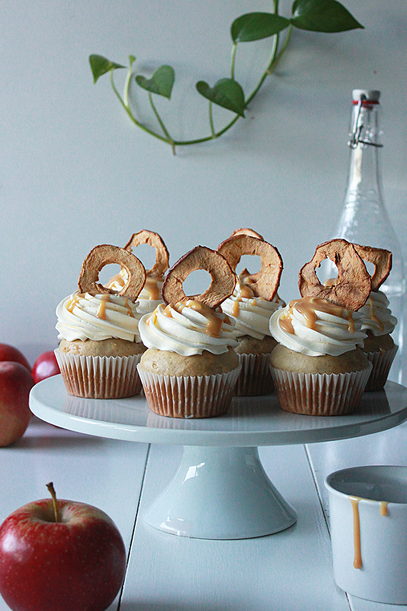 Apple Spice Cupcakes with Dulce de Leche Frosting