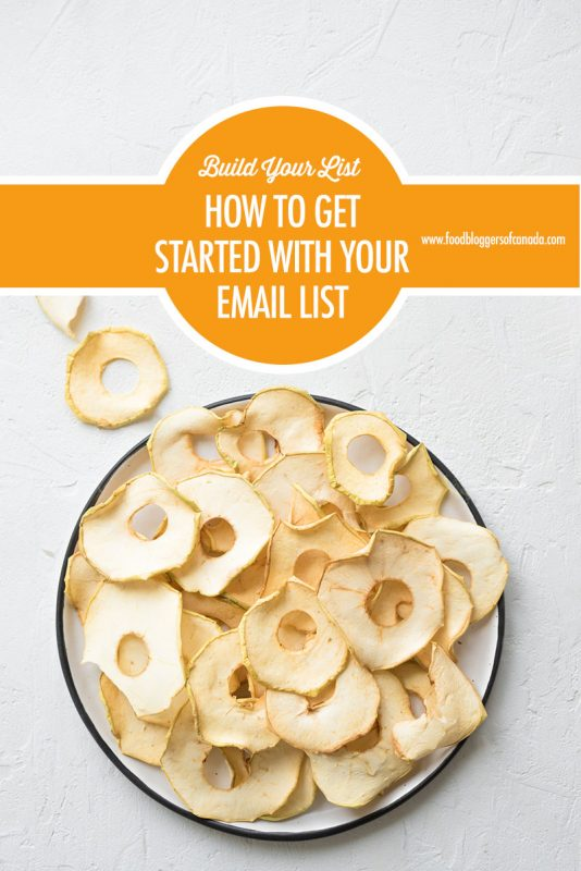 How to Get Started Building Your Email List   Food Bloggers of Canada