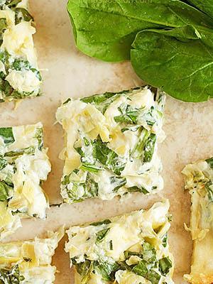 Artichoke Spinach Dip Stuffed Flatbread | Ilona's Passion