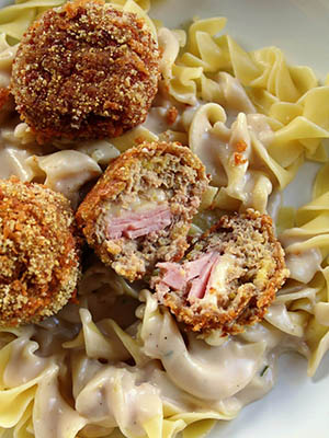 Chicken Cordon Bleu Meatballs | Jo and Sue