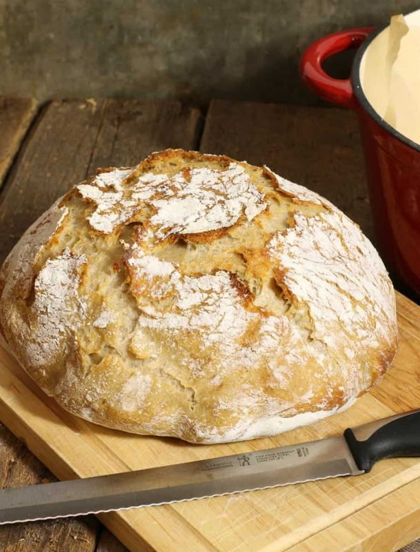 No Knead Sourdough Bread | Earth Food and Fire
