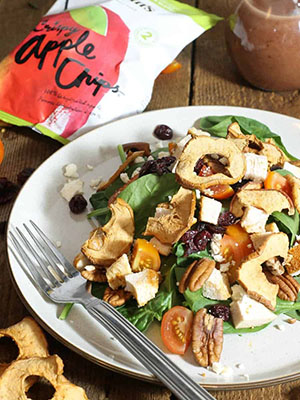 Crispy Apple Chip, Pecan, Chicken Spinach Salad | Earth, Food and Fire