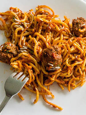 Spaghetti and Meatballs | Chocolates and Chai