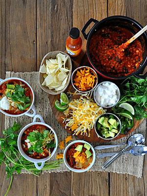 Vegetarian Lentil Chili Bar | Food Bloggers of Canada